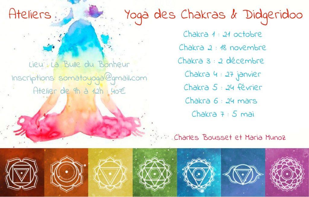 Yoga des Chakras didgeridoo Charles Bousset Maria Munoz 2017-18